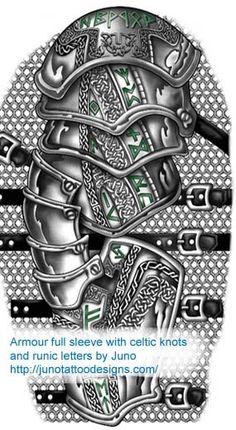 armor tattoo,celtic knots tattoo,male tattoo,arm tattoo