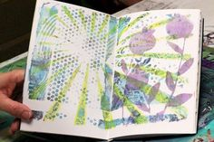 Gelli plate journaling direct to a journal page