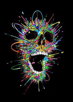 - Diamond Embroidery Skull Painting Cross Stitch Diy Art Craft Home Decor & Garden Psychedelic Art, Arte Bob Marley, Totenkopf Tattoos, Skull Wallpaper, Skull Painting, Skull Artwork, Skull Design, Skull And Bones, Dark Art
