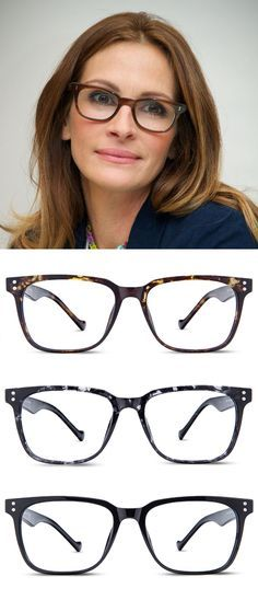 Unisex full frame acetate eyeglasses Julia Roberts – Pretty Woman – still pretty wearing too! The post Unisex full frame acetate eyeglasses appeared first on Best Of Sharing. Cool Glasses, New Glasses, Glasses Online, Girls With Glasses, Fake Glasses, Julia Roberts, Pretty Woman, Online Eyeglasses, Eyeglasses For Women
