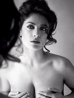 Salma Hayek Allure August 2015 photo shoot topless nude