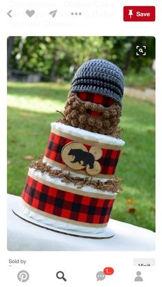 Diaper cake, there has got to be an adult idea here somewhere!