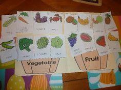 Printable Fruit/Vegetable file folder activity