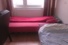 $490/ six nights, in central London - room is small, but actually has two beds instead of having to share a double