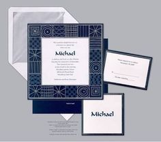letterpress bar mitzvah invitations - Google Search