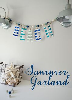 DIY Beach Garland us