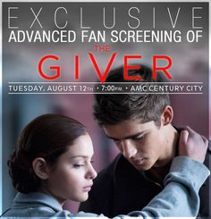 Attention LA Fans: We Have Early Screening Tickets for 'The Giver' to Giveaway!!!