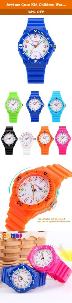 "Jewtme Cute Kid Children Watch Colorful dial Watches Quartz Waterproof Watch For Boys Girls Students-Blue. Gender: Unisex Style: Sport Movement: Quartz Water-proof: 5ATM Case material: plastic Band Material: Rubber Color: as picture Clasp type: buckle Features (Approx): Watchcase Diameter: 3.3cm (1.30"") Watchcase Thickness: 1.0cm (0.39"") Band Length (Included the case): 22.00cm (8.66"") Watchband Width: 1.5cm (0.59"") 100% brand new and high quality sport watch from large manufacturer High..."