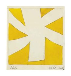 Artwork by Ellsworth Kelly, Aloes, Made of watercolor and graphite on paper
