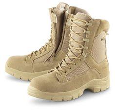 """Men's Guide Gear 8"""" Waterproof Side - zip Desert Boots Desert Tan, Desert, 10D"""