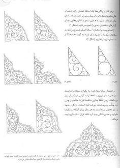 9. Islamic Motifs, Islamic Art Pattern, Persian Motifs, Arabic Calligraphy Art, Arabic Art, Geometric Designs, Geometric Art, Illumination Art, Iranian Art