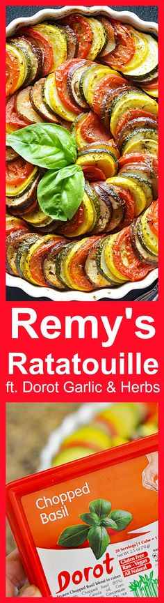Remy's Ratatouille featuring @MyDorot Garlic & Herbs #ElevateYourPlate #ad https://ooh.li/9ac3355