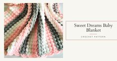 Make this super soft and snugly crochet baby blanket. Free crochet pattern suitable for beginners, photo tutorial. Crochet Stitches For Blankets, Crochet Baby Blanket Free Pattern, Crochet Blanket Edging, Crochet Mandala Pattern, Crochet For Beginners Blanket, Baby Afghan Crochet, Free Crochet, Crochet Patterns, Blanket Stitch