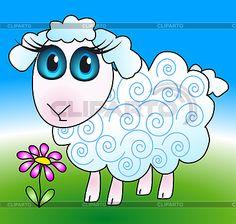 Милая овечка | Векторный клипарт | CLIPARTO