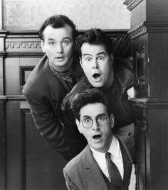"""Bill Murray, Dan Aykroyd y Harold Ramis en """"Los Cazafantasmas"""", 1984"""