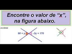 Curso de Matemática Ângulos opostos pelo vértice https://youtu.be/XORsU5wsxkw