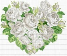 Cuori e cuori più in Cross Stitch | Cross Stitch Charts