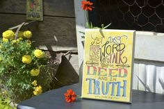 In Deed & Truth - wood plaque | Part of my 31 Days of Artsy Giveaways for our Haiti Adoption Fundraiser.