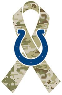 Indianapolis Colts Salute to Service-I went to this game and still have my ribbon. Horseshoe Logo, Andrew Luck, Salute To Service, Go Blue, Home Team, Indianapolis Colts, Back Home, Nfl