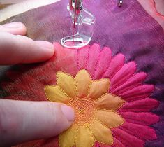 My Byrd House: Shadow Applique With Silk Flowers - Quilting Tutorial