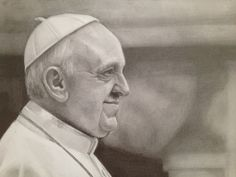 Drawing of Pope Francis by Melissa Greco