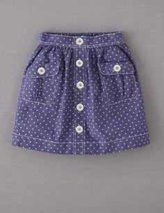 Spotty Chambray Skirt
