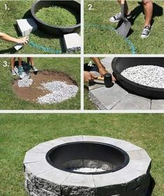Genial This Would Be Great For The Backyard! Firepit In 4 Easy Steps (click  Through For Tutorial) By Maureen
