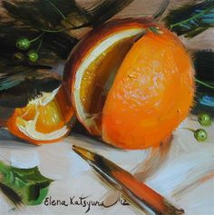"Daily Paintworks - ""Orange"" - Original Fine Art for Sale - © Elena Katsyura"