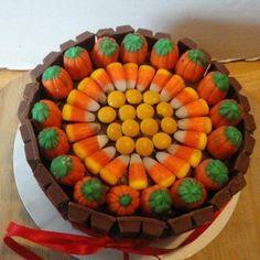 Pumpkin Kit Kat Cake