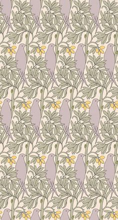 The Purple Bird, Voysey Wallpaper Wall Wallpaper, Pattern Wallpaper, Wallpaper Ideas, Home Crafts, Arts And Crafts, Purple Bird, Elements Of Design, Patterns In Nature, Craft Items