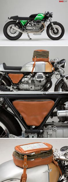 The latest from Hamburg-based Kaffeemaschine is this lovely Moto Guzzi 1000 SPand a matching set of luggage designed for classics and cafe racers. Love it!