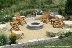 outdoor fire pit furniture ideas - find out more about our guidelines! Sand Fire Pits, Outside Fire Pits, Fire Pit Area, Sand Pit, Garden Fire Pit, Diy Fire Pit, Fire Pit Backyard, Fire Pit Landscaping, Landscaping With Rocks