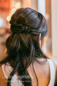 Bridal braid half updo hairstyle ~ #JadaHeartistry #Asian