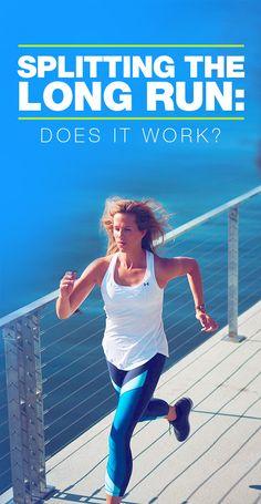 Split Long Run: Does it have the same impact as a long marathon training run? Marathon Tips, Marathon Running, Training Plan, Running Training, Training Tips, Running Humor, Running Quotes, Training Equipment, Running For Beginners