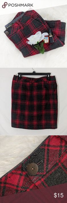 Eddie Bauer Wool Plaid Skirt Eddie Bauer Wool Plaid Skirt Condition: Excellent, no holes or stains. All items come from a smoke free and pet free home.  Hip to Hip: 15  Full Length: 19   Bottom: 17  Size: 6  I want to get rid of these items so please feel free to send me an offer. I will always counter or accept any and all offers, including lowball offers. Also comment if you would like me to add you to my taglist stay updated with new arrivals! Happy Poshing.  Inventory Number: BB308-0318…