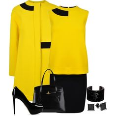 """""""Yellow"""" by terry-tlc on Polyvore"""