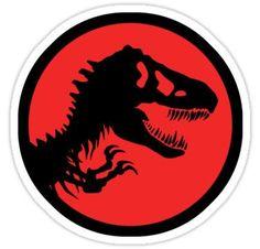 T-rex/ Jurassic logo Stickers