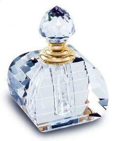 Baby Blue Cut Glass Perfume Bottle