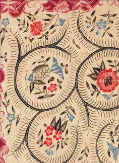 Javanese Batik C - detail Motifs Textiles, Textile Prints, Textile Patterns, Textile Design, Print Patterns, Batik Pattern, Pattern Art, Pattern Designs, Stoff Design