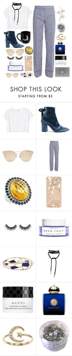 """""""❁ stay gold ❁ (RTD)"""" by otterspace ❤ liked on Polyvore featuring Monki, self-portrait, Christian Dior, MSGM, Lagos, Ippolita, Lamoda, Gucci, AMOUAGE and LC Lauren Conrad"""