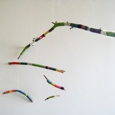 wrapped twig mobile no. 2
