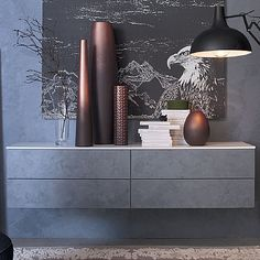 Elegant and ultramodern 'Philos' wall unit. Ultramodern and contemporary piece, reliable and resistant materials. My Italian Living.