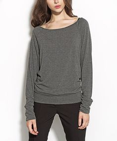Look what I found on #zulily! Gray Off-Shoulder Top #zulilyfinds