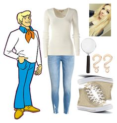 """""""Scoody Doo- Fred"""" by conversewolfy ❤ liked on Polyvore featuring H&M, Michael Kors, Converse, Cedes and Alison Lou"""