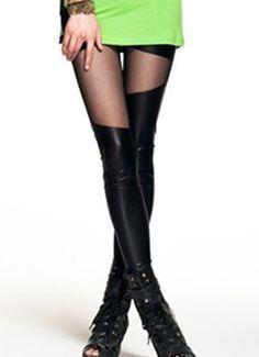 Wet Faux Leather Leggings