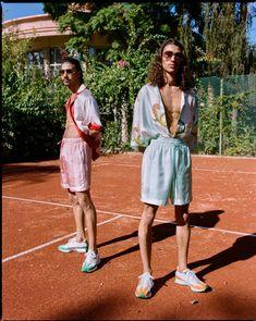 Tennis Fashion, Boy Fashion, Casablanca, Boys Summer Outfits, Girl Outfits, Men Wearing Dresses, Tennis Clothes, Dapper Men, Poses