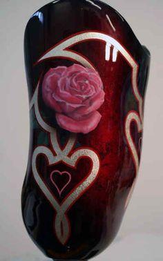 this is a tattooed prosthetic leg looks good. www.flashyourtatoo.com