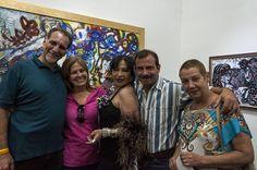 Zaida del Río junto a René y Fernando. Foto: Fernando Medina / Cubahora