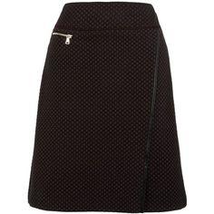 Gerry Weber Knitted Jacquard Skirt, Chocolate