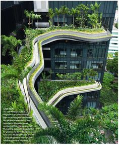Architecture tourist information: images about office building on pin Innovative Architecture, Green Architecture, Architecture Details, Outdoor Gardens, Indoor Outdoor, Urban Heat Island, Layout, High Rise Building, Tourist Information